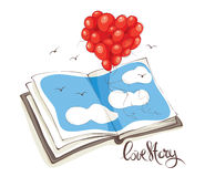 Love story, Valentine`s card Stock Images