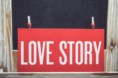 Love  story words Royalty Free Stock Photos