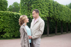 Love story, young couple. Romance relationship. Outdoor Stock Photos