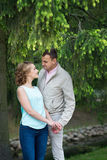 Love story, young couple. Romance relationship. Outdoor Royalty Free Stock Photo