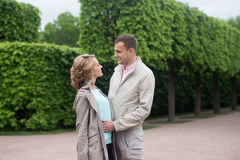 Love story, young couple. Romance relationship. Outdoor Stock Photography