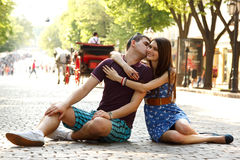 Love story of young couple Stock Photography