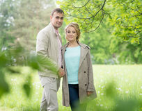 Love story, young couple. Spring. Romance relationship Stock Photography