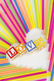 Love Straw Heart Royalty Free Stock Photography