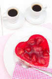 Love - Strawberry Cake Stock Images
