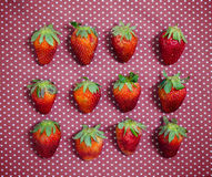 Love strawberry concept Stock Photography