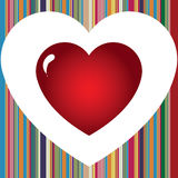 Love stripes vector illustration