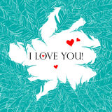 Love Style Background. With hand drawn feathers Stock Image