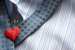 Love suffocating. Heart shirt and mans tie valentines idea Stock Photography