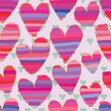Love sugar colorful golden stroke seamless pattern. This illustration is design and drawing love like sugar layer colorful with golden stroke in seamless pattern Stock Image