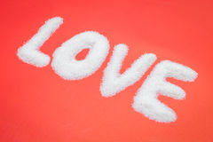 Love from sugar Royalty Free Stock Photo