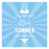Love summer3 Royalty Free Stock Photography