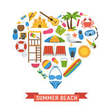 Love Summer Concept vector illustration