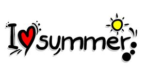 Love summer. Creative design of love summer Royalty Free Stock Photos