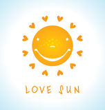 LOVE SUN Royalty Free Stock Photography