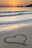 Love at sunrise Royalty Free Stock Photography