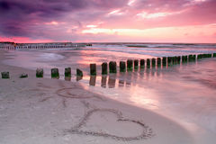 Love at sunset. Royalty Free Stock Photography