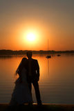 Love and sunset Royalty Free Stock Image