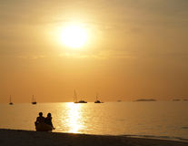 Love sunset. Sunset at south sea of Thailand Stock Images