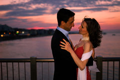 In love at sunset Royalty Free Stock Images