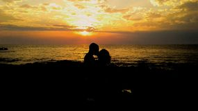 Love at the sunset in Uruguay montevideo Stock Images