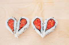 Love sushi concept Stock Image