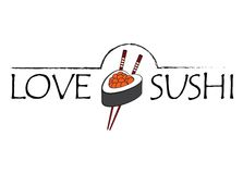 Love sushi icon Royalty Free Stock Image