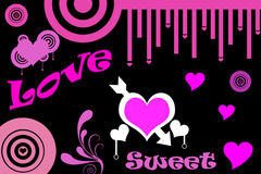 Love and sweet. Background pink Stock Photo