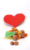 Love Sweet Candied Fruits an Nuts royalty free stock images
