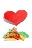 Love Sweet Candied Fruits. Sweet Candied Fruits on the white background stock photo