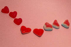 Love sweet candy. Candy hearts for san Valentine Day royalty free stock photography
