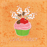 Love is sweet like cupcake Royalty Free Stock Photos