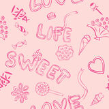 Love Sweet Pattern Royalty Free Stock Images