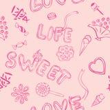 Love Sweet Pattern vector illustration