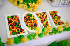 Love sweet and random colors Candies Royalty Free Stock Photography