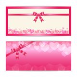 Love and sweet theme gift certificate, voucher, gift card or cas Stock Photography