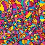Love swirl line seamless pattern royalty free illustration