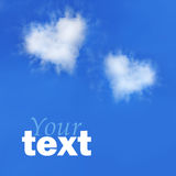 Love symbol. Cloud in form of love symbol royalty free stock photography