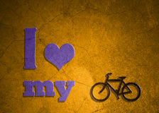 Love symbol and bicycle icon Stock Photo