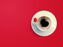 Love symbol coffee with sugar pills Stock Images