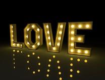 Love symbol design. 3d rendering love signboard design stock illustration