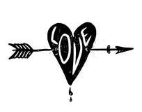 Love symbol logo Stock Photography