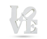 LOVE symbol object  white background, use clipping path Royalty Free Stock Photography