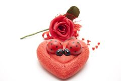 Love symbol with rose Royalty Free Stock Photos
