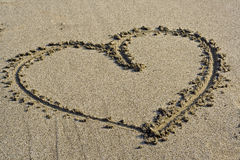 Love Symbol in the sand Royalty Free Stock Photography