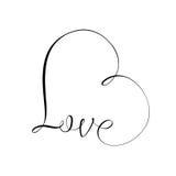 Love symbol. Unique calligraphic vector tattoo love design Stock Photography