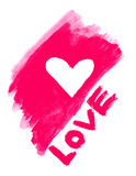 Love symbol and word ''love'' Stock Photography