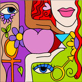 Love symbols Stock Images