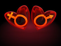 Love symbols Royalty Free Stock Images