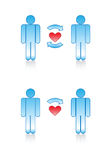 Love Symbols: Gay Couple. Royalty Free Stock Photo
